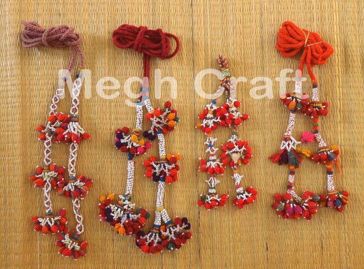 Tribal Tassels Beaded Waist-Belts -Banjara Handmade Beaded Waist-Belts -Boho Hippy Pom Pom bracelets BY #CraftsOfGujarat #craftnfashion #meghcraft #indianethnicjewery