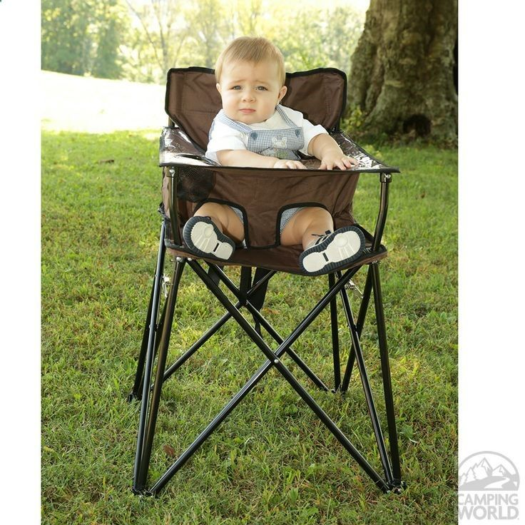 Baby Go-Anywhere-Highchair, Brown - Jamberly HB2004 - Folding Chairs - Camping World ---All I need is a new grandchild to go in it. ;-)