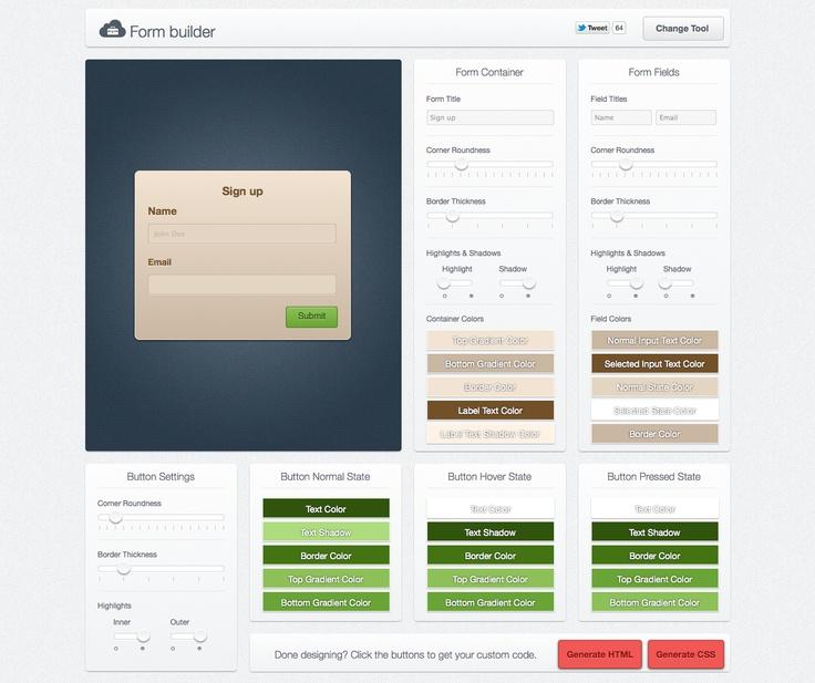 Form Builder  http://www.uiparade.com/wp-content/themes/artiste/live-tools/form-builder.html