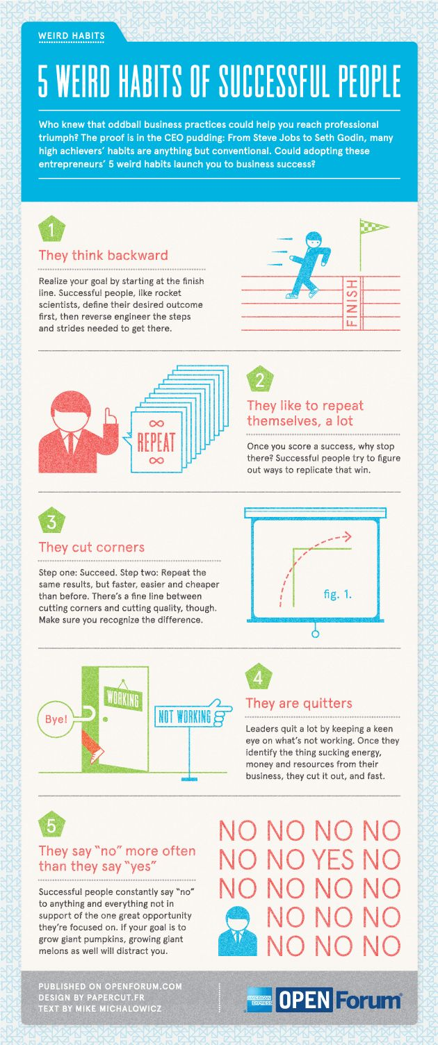 Infographic: 5 Weird Habits Of Successful People