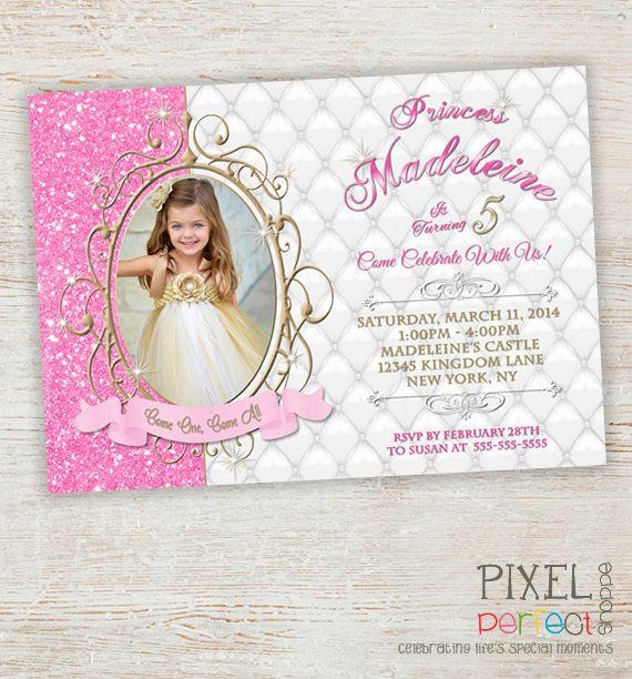 Princess Invitation Princess Birthday by PixelPerfectShoppe