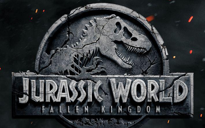 Scarica sfondi Jurassic World, Caduto il Regno Del 2018, Emblema, Jurassic world 2, il nuovo film