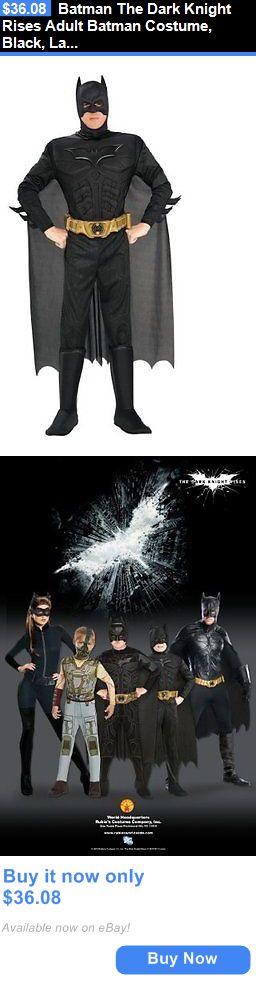 Halloween Costumes Men: Batman The Dark Knight Rises Adult Batman Costume, Black, Large BUY IT NOW ONLY: $36.08