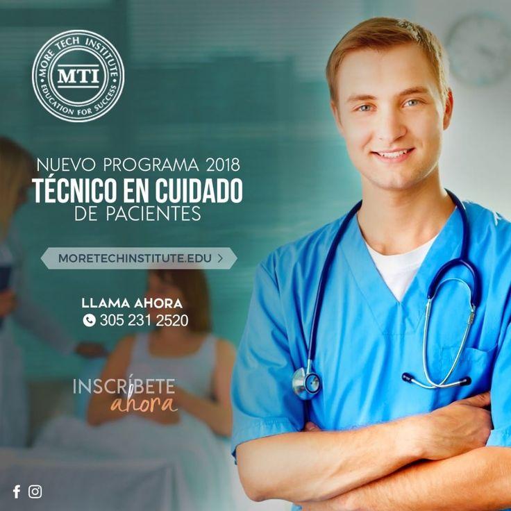 Los graduados del programa de Técnico de Atención al Paciente en More Tech Institute están preparados para encontrar empleo en los hospitales hogares de ancianos y centros de cuidados prolongados. Como Técnico de Atención al Paciente Tu trabajo es centrarse en el cuidado de los pacientes bajo la supervisión de personal médico. Necesarios donde hay pacientes los Técnico de Atención al Paciente están en alta demanda en la mayoría de las instalaciones médicas. Llámanos ph: 3052312520 5352 W…