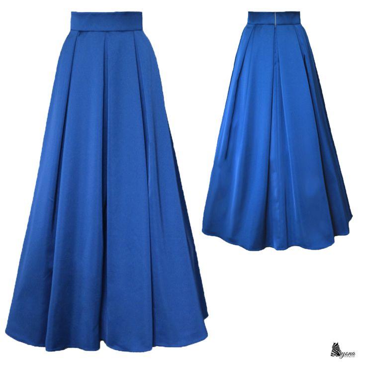 Společenská skládaná sukně různé barvy