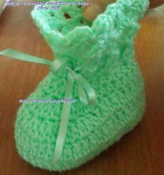 Como faço sapatinho bebê em crochê - Nível Fácil - Graça Tristão