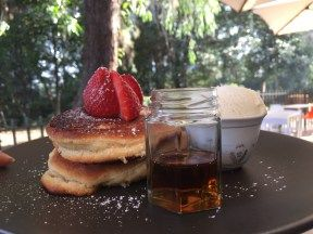 The Groundskeeper Cafe Parramatta: Kids pancakes with vanilla bean icecream