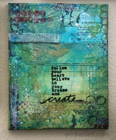 Erin Bassett - Mixed Media Canvas - Create