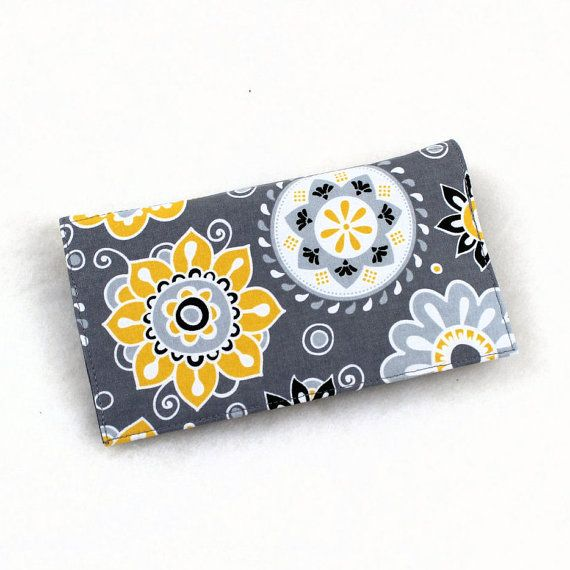 Fabric Checkbook Cover for Duplicate Checks with by QuiltSewCover