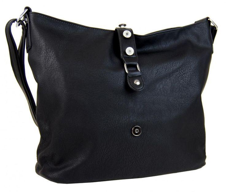 Velká dámská crossbody kabelka L2037 černá New Berry E-batoh