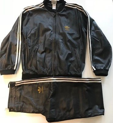 Pin on Adidas Leather Track Suit