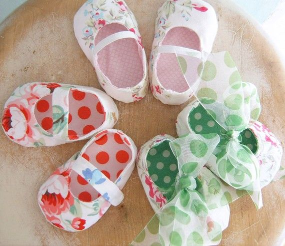 DIY baby slippers
