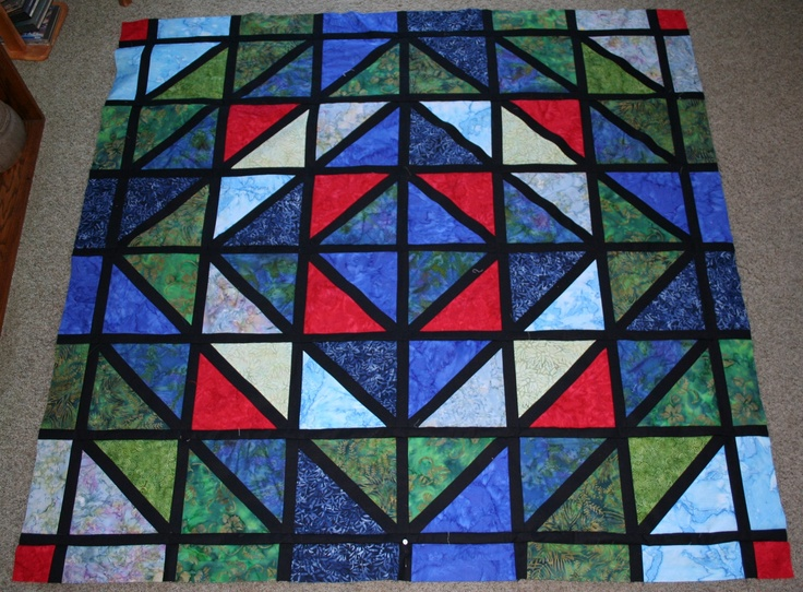 36 best images about batik quilts on pinterest twilight for Window pane quilt design