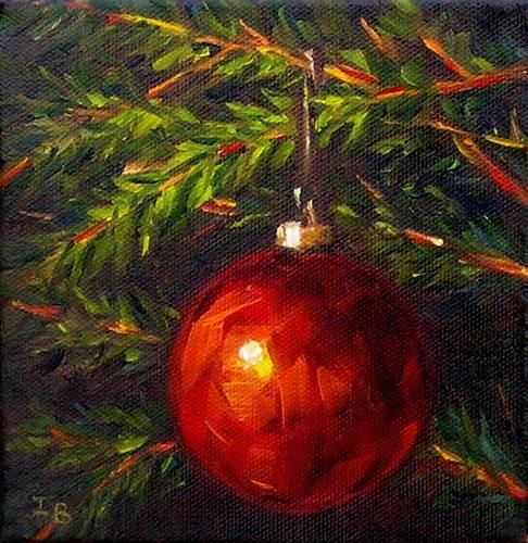 "Daily Paintworks - ""Red Ball Ornament"" - Original Fine Art for Sale - © Irina Beskina"