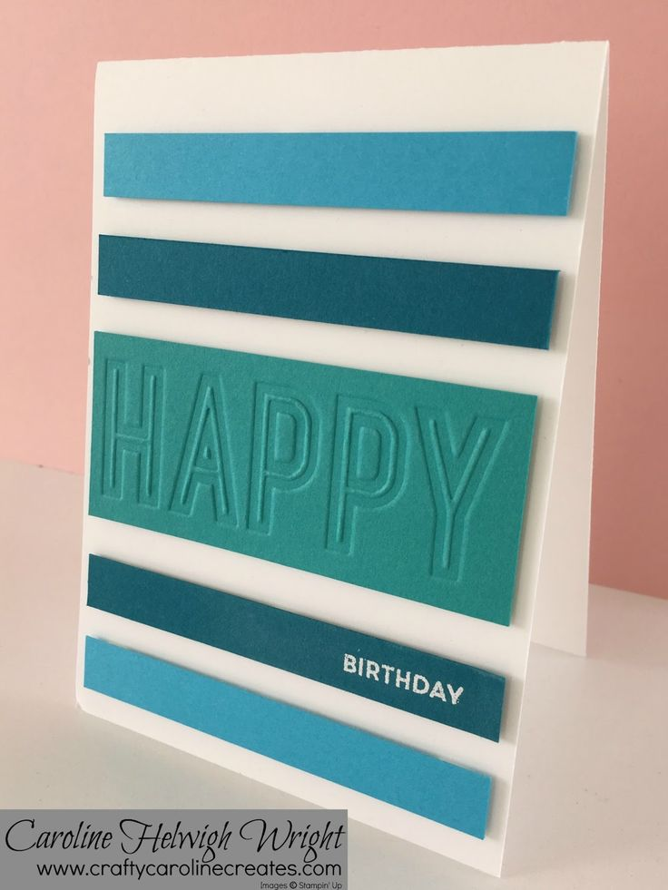 Happy Birthday Double Embossed Birthday Card - Male Card Inspiration with Stampin' Up Products.
