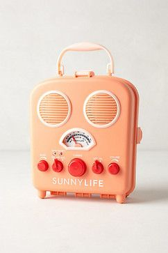 Sunny Life Beach Radio, Coral - Eclectic - Home Electronics - Anthropologie