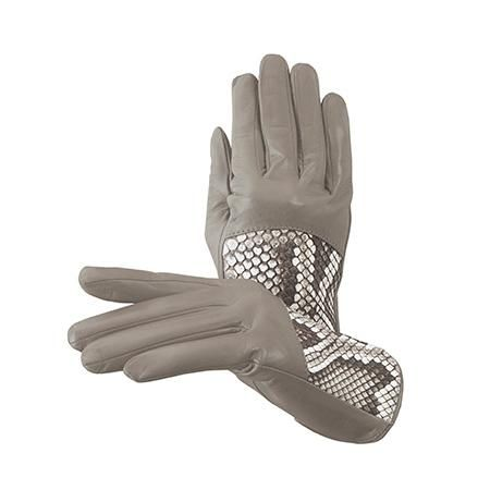 Ladies Python Leather Gloves in Tortora Nappa & Natural Python  Aspinal of London, $115, reg230. Boxing Day 50% $60 @ Winners!!