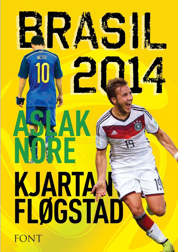Kjartan Fløgstad og Aslak Nore BRASIL 2014  Sommeren 1978 følger en fotballgal forfatter VM i fotball på TV mens han vugger sin nyfødte sønn på fanget. 36 år senere reiser faren og sønnen til Brasil for å skrive VM-bok sammen. #font