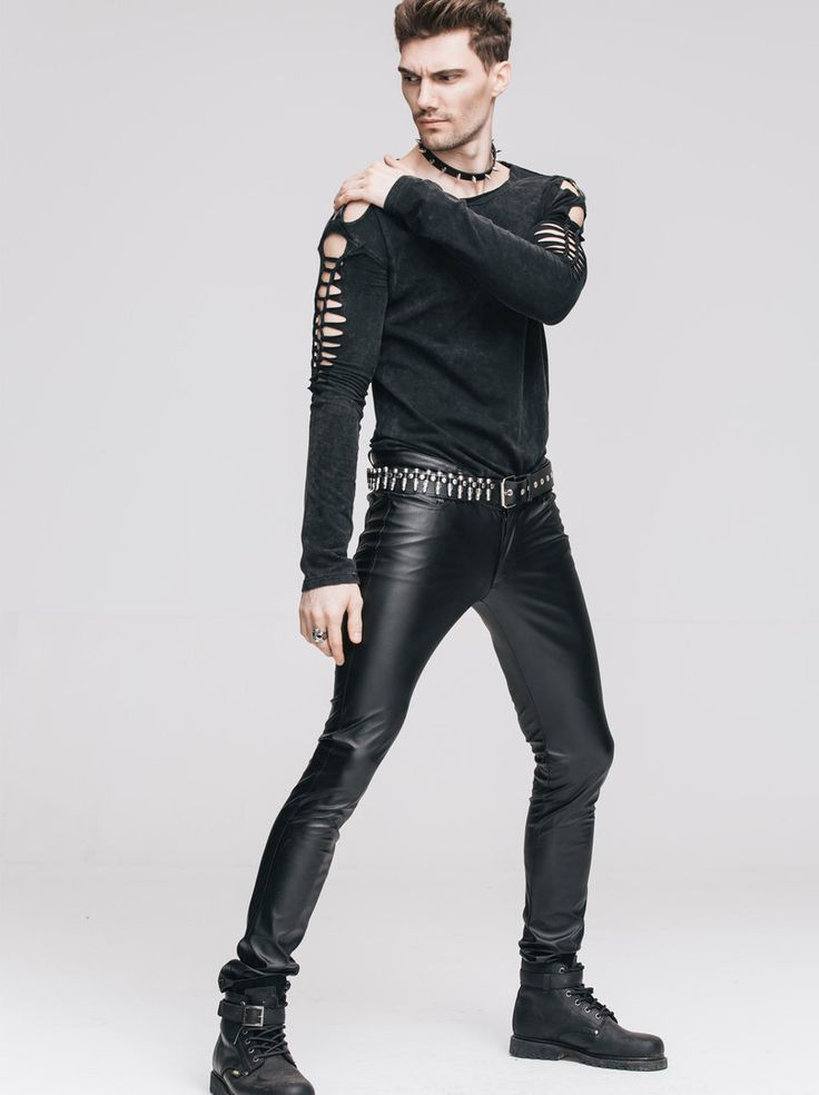 Gothic- /Punk- Veggie-Lederhose Radioactive für Herren