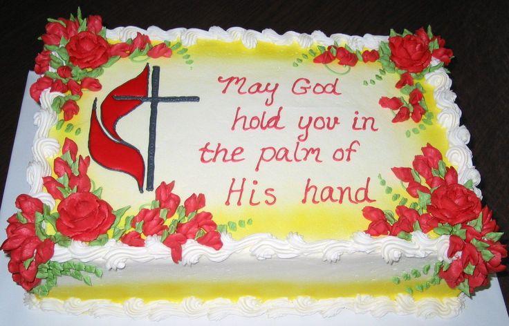 Pastor Retirement Cake 10x15x3 Vanilla Sour Cream Cake