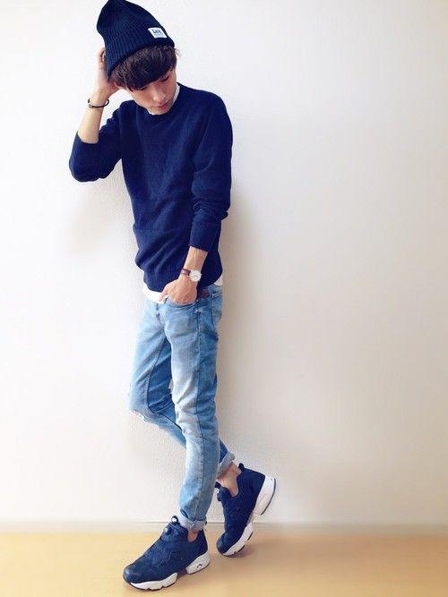 Leeのニットキャップ・ビーニー「ハイゲージ ニット帽」を使ったさわのコーディネートです。WEARはモデル・俳優・ショップスタッフなどの着こなしをチェックできるファッションコーディネートサイトです。