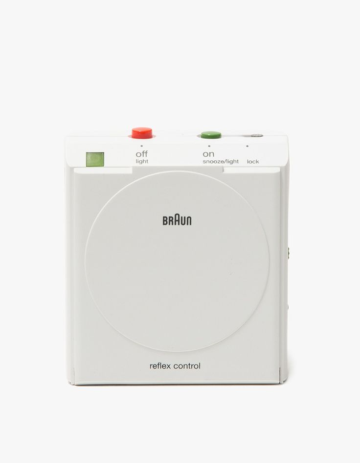 BNC005 Travel Alarm Clock in White