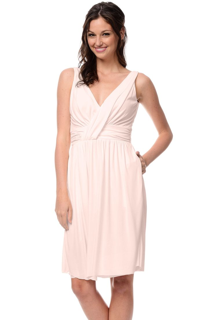 Shop Dove & Dahlia Bridesmaid Dress - Andrea in Luxe Stretch Jersey at Weddington Way. Find the perfect made-to-order bridesmaid dresses for your bridal party in your favorite color, style and fabric at Weddington Way.
