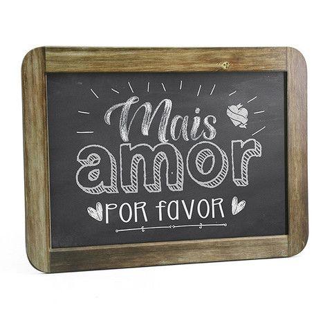 """Quadro """"Gizlosofia"""" Mais Amor Por Favor"""