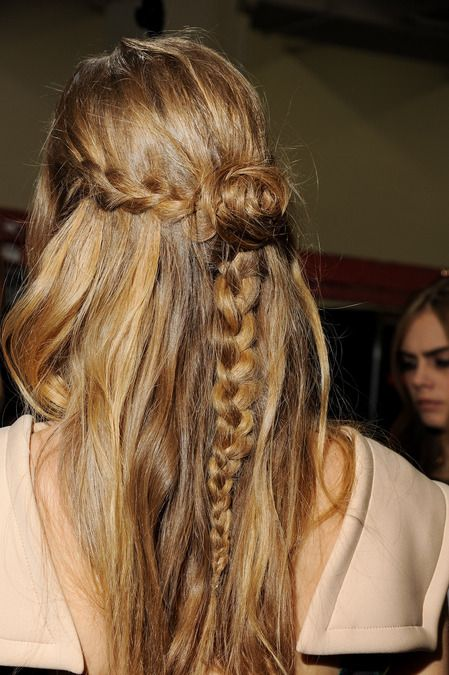 braid + rosette