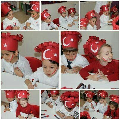 Türk bayraklı taç örneği.