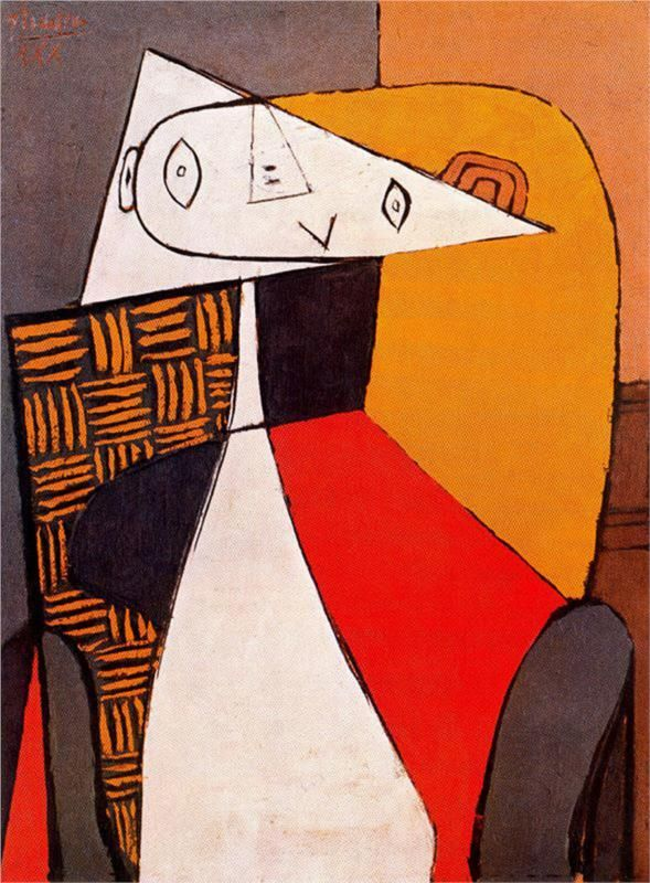 Seated Woman, 1930 Pablo Picasso -