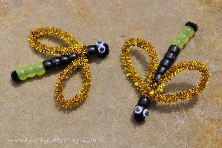 I HEART CRAFTY THINGS: Beaded Dragonfly & Lightning Bugs