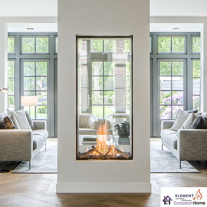 The Sky T Is A Vertical Direct Vent Gas Fireplace That Comes In At A Stunning Five Feet Tall Fl Vented Gas Fireplace Direct Vent Gas Fireplace Gas Fireplace