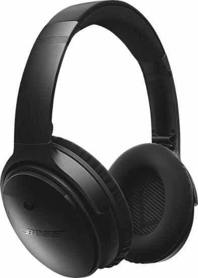 Bose® - QuietComfort® 35 wireless headphones - Black - Front Zoom