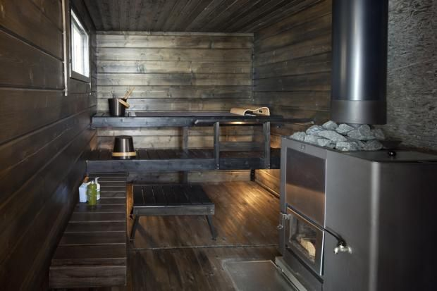 Blackened sauna wood finish - Finnlamelli Oy - Rantasauna | Asuntomessut