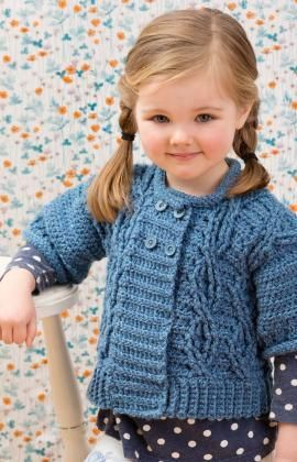 Cool Cables Sweater & Leg Warmers Free Crochet Pattern from Red Heart Yarns