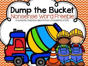 This game is designed to be fun and easy to use!  Cut, laminate and place the cards in a bucket.  During small groups, students pull one of the cards.  If they can read the nonsense word, they can keep the card.  If they cant, they place the card back in the bucket.