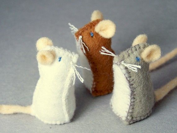 Little Felt Mice<3