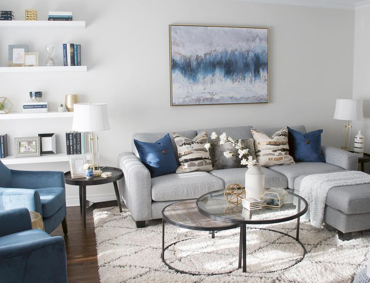 A Welcoming Interior Living Room Should Always Make A Statement This Interior Decor Worked A Living Room Decor Gray Blue Living Room Decor Gold Living Room