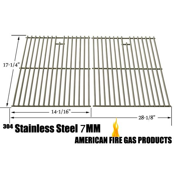 REPLACEMENT STAINLESS STEEL COOKING GRID FOR AUSSIE 6703C8FKK1, 6804S8-S11, 6804T8KSS1, 6804T8UK91, 67A4T09K21, BRINKMANN 810-9490-F, 810-8425-S, 810-9490-0 AND GRILL CHEF SS72B GAS GRILL MODELS Fits Compatible Aussie Models : 6703C8FKK1 , 6703T8 , 67A4T09K21 , 6804S8 , 6804S8-S11 , 6804T8KSS1 , 6804T8UK91