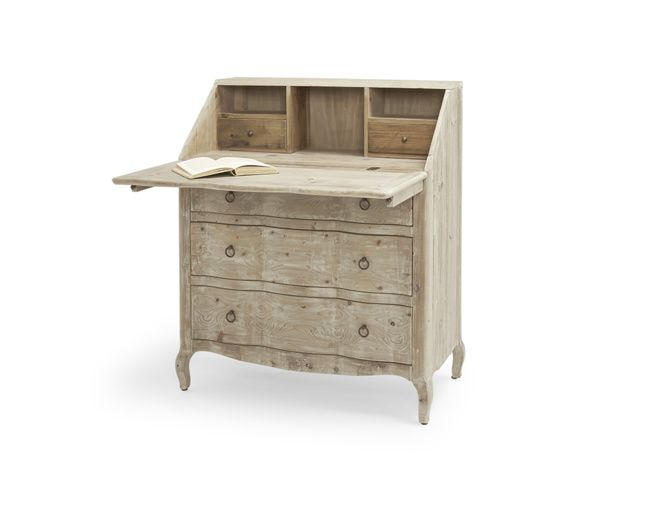 The Quill is a hand carved bureau desk. It is beautifully made from reclaimed fir with a beached timber finish. Worthy of the greatest literary works!