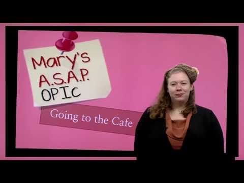 Mary's ASAP 오픽OPIc: Cafe 1 - YouTube
