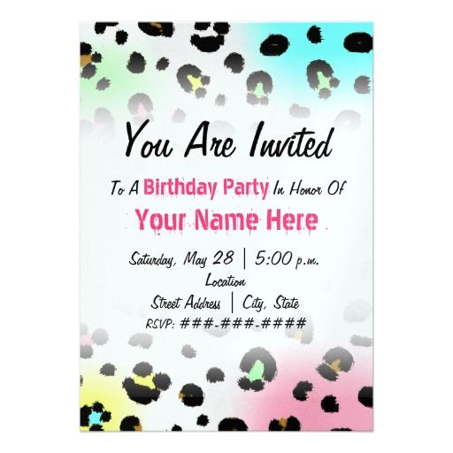 388 best animal print birthday party invitations images on