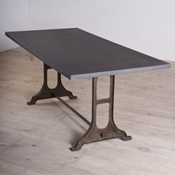 Gwalior Zinc Finished Iron Dining Table (India)  Find More Furniture Like Restoration Hardware Here.