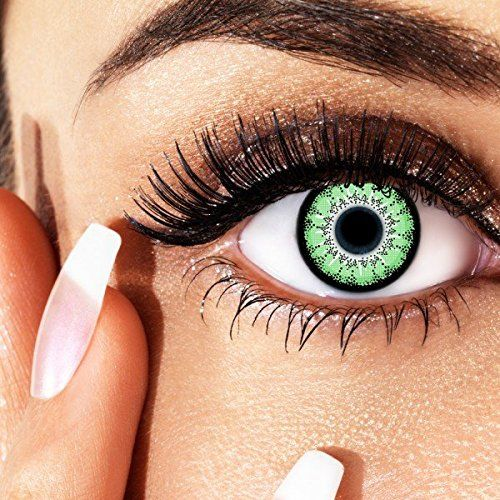aricona Farblinsen Natürliche farbige Kontaktlinse Green Passion – Jahreslinsen für helle Augenfarben, ohne Stärke, Farblinsen als Modeaccessoire für den täglichen Gebrauch