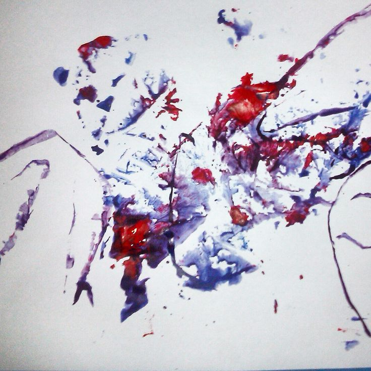 ABSTRACT ART PROJECT Acrylic on paper