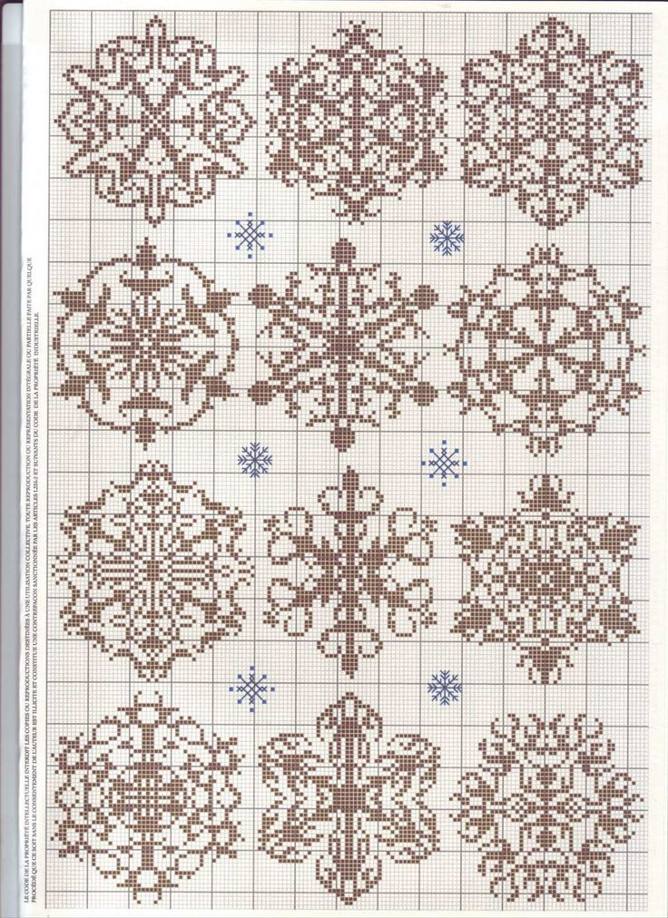 Snowflake Cross Stitch // Knitting Pattern
