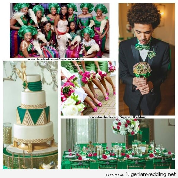 Colour Crush Emerald Green With Pink: 1000+ Images About Nigerian Wedding Color Schemes On