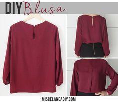 DIY sewing | Basic blouse | Blusa básica con mangas