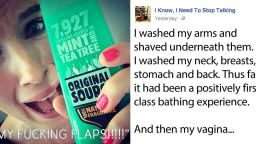 Woman's hilarious 'flaps on fire' rant goes viral after using Original Source mint shower gel